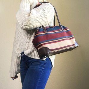 Vintage St. John's Bay Striped Bag